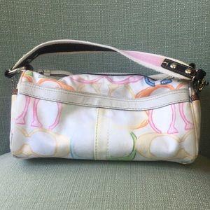 Coach Bags - Coach Rainbow 🌈 scribble barrel bag